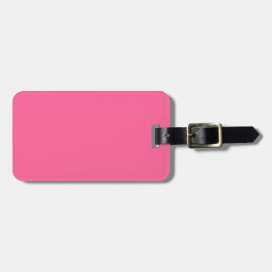 Light Hot Pink Colour Trend Template Blank Bag Tag