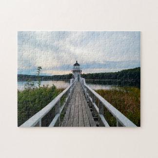 Light House Maine. Jigsaw Puzzle
