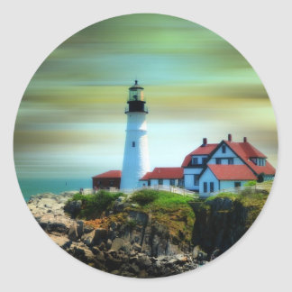Light House Portland Headlight Classic Round Sticker