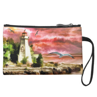 Light House Sueded Mini Clutch