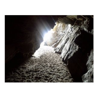 Light in Maghera Caves Ireland Postcard