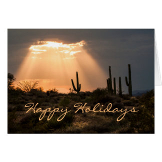 Light in the Desert Happy Holidays Card