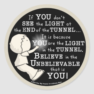 Light in the Tunnel Classic Round Sticker