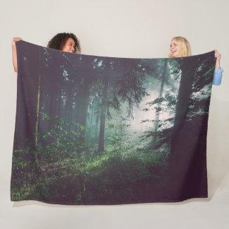 LIGHT in the WOODS Fleece Blanket