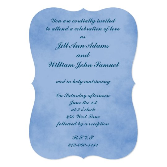 Light Indigo Blue Parchment Card
