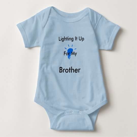Light it up blue (brother) Creep Baby Bodysuit
