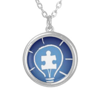 light it up blue silver plated necklace