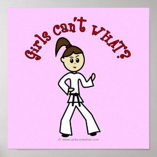 Light Karate Girl Poster