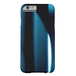 Light l Modern Black-Blue-White Abstract Barely There iPhone 6 Case