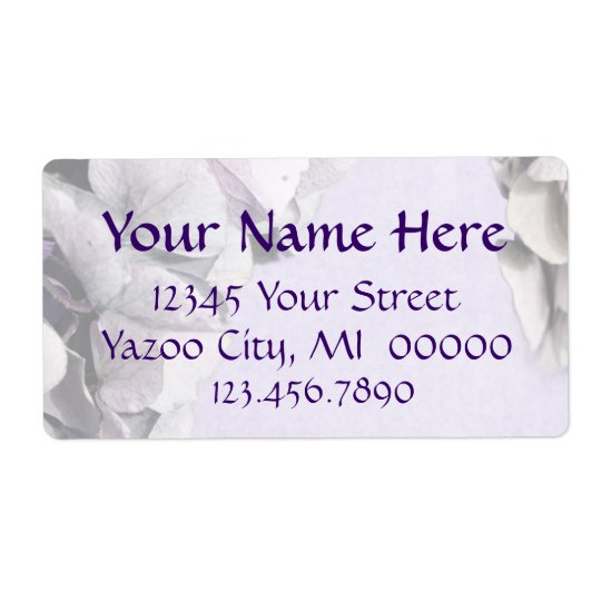 Light Lavender Hydrangea Large Address Labels