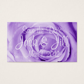 Light Lavender Save the Date Business Card