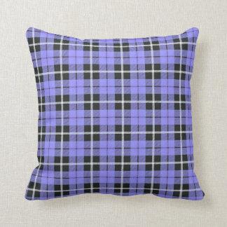 light lavender sky blue white/black stripe stripe throw pillow