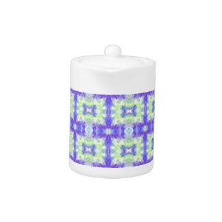 Light Lavender Teal Pastel Connections Pattern