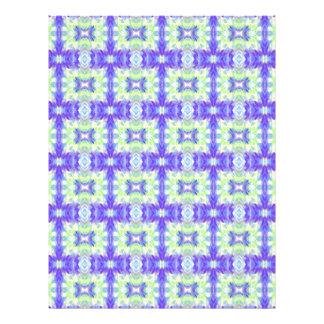 Light Lavender Teal Pastel Connections Pattern Letterhead