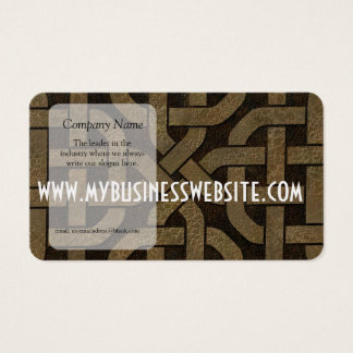 Light Leather on Black Celtic Knot Business Card