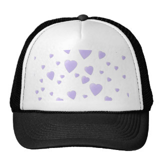 Light Lilac and White Love Hearts Pattern. Trucker Hat
