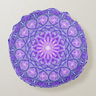 Light Lotus Mandala Round Pillow