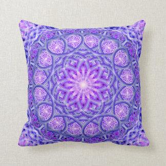 Light Lotus Mandala Throw Pillow