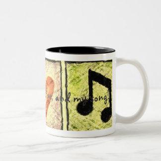 Light, Love, Song Two-Tone Coffee Mug
