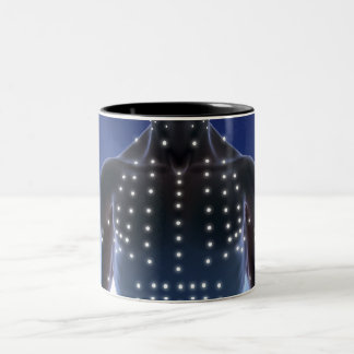 Light map of acupuncture points Two-Tone coffee mug