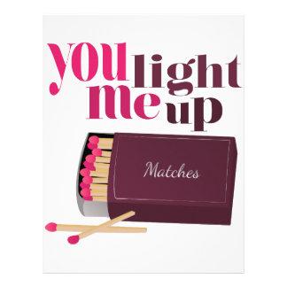 Light Me Up Custom Letterhead