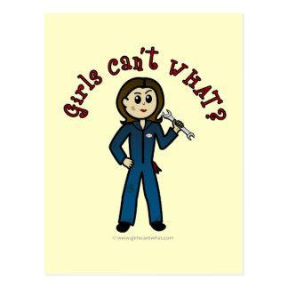 Light Mechanic Girl Postcard
