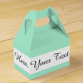 Light Mint Green High End Colored Matching Favor Box
