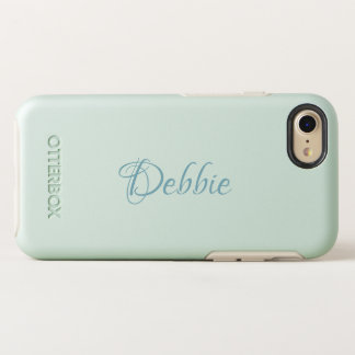 Light Mint Green | Pesonalized Name OtterBox Symmetry iPhone 8/7 Case