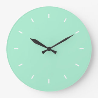 Light Mint Premium Color Coordinating Large Clock