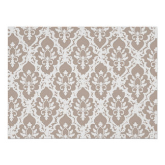 Light Mocha Lace Poster