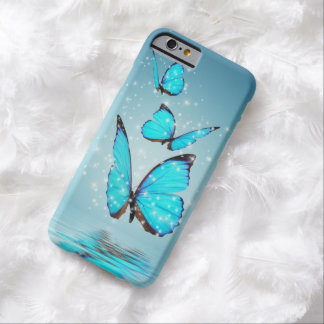 Light Modern 3 Blue Butterfly Barely There iPhone 6 Case