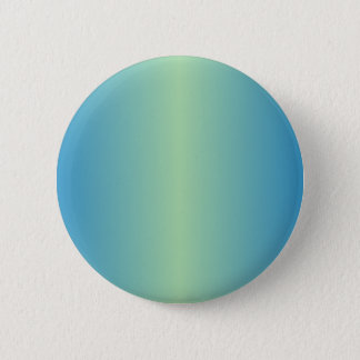 Light Moss Green and True Blue Gradient 2 Inch Round Button