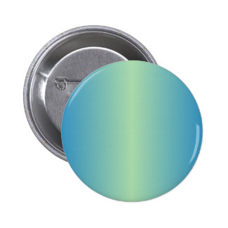 Light Moss Green and True Blue Gradient 2 Inch Round Button