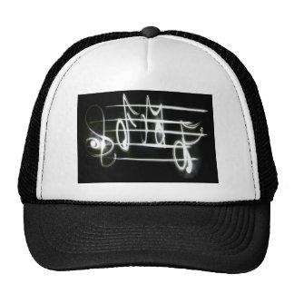 Light Music Notes Mesh Hats