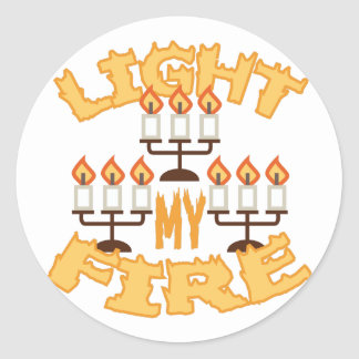 Light My Fire Round Sticker