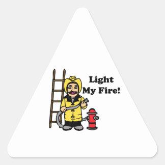 Light My Fire Triangle Sticker