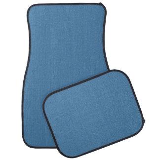 Light Mykonos Blue Formal Color Design Car Mat