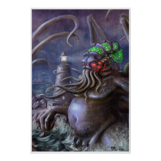 Light of Cthulhu: Cthulhu Rises from the Sea Poster