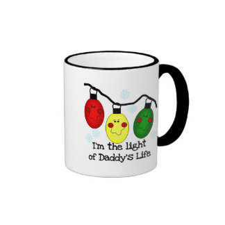 Light of Daddy's Life Holiday Tshirts and Gifts Ringer Mug