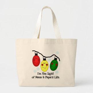 Light of Nana and Papa s Life Tshirts and Gifts Tote Bag