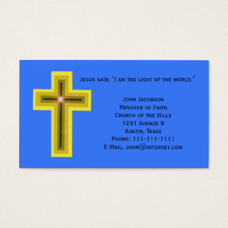 Light of the World Cross Christian Business Card