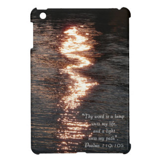 Light on the Water-Reflections+Scripture iPad Mini Cover
