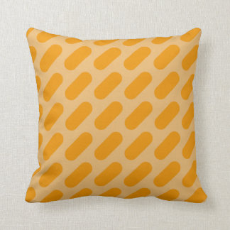 Light Orange & Dark Orange Dashes Throw Pillow