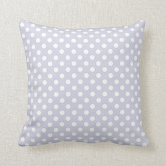 Light Orchid Purple Polka Dots Pattern Throw Pillows