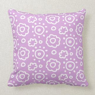 Light Orchid Purple White Floral Pattern Pillow