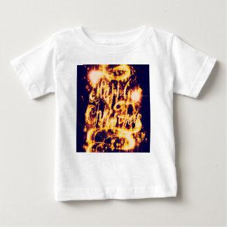 Light Painted Xmas Greeting Baby T-Shirt