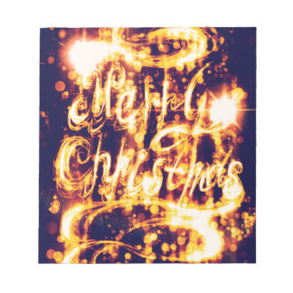 Light Painted Xmas Greeting Notepad