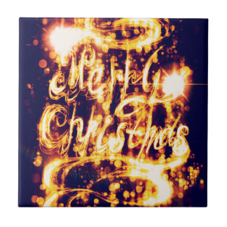 Light Painted Xmas Greeting Tile
