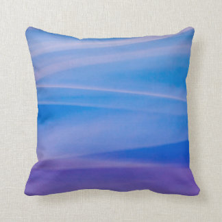 Light painting abstract color trails throw pillow