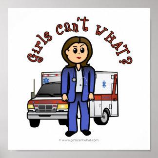 Light Paramedic Girl Poster